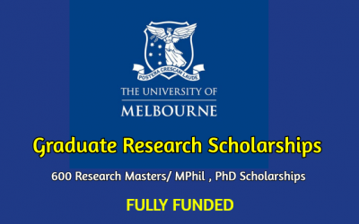 Graduate Research Scholarships 2020 at the University of Melbourne, Australia [Fully Funded]