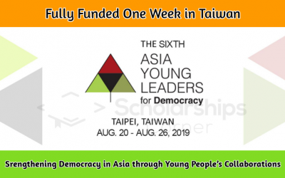 6th Asia Young Leaders Programme 2019 [Fully Funded] in Taiwan