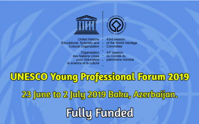 UNESCO Young Professional Forum 2019 in Azerbaijan – Fully Funded