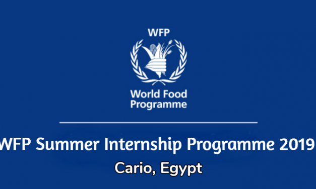 WFP Summer Internship Programme 2019 in Cairo, Egypt
