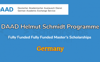 DAAD Helmut Schmidt Programme 2020 in Germany – Fully Funded