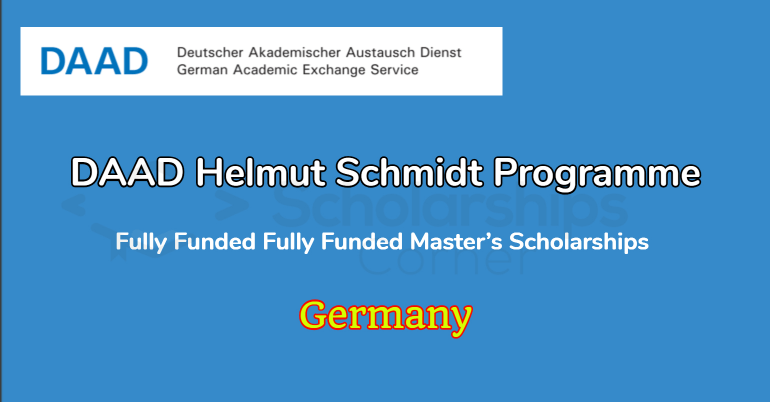 DAAD Helmut Schmidt Programme 2021 in Germany - Fully Funded