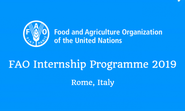FAO Internship Programme 2019 in Rome, Italy – Paid Internship