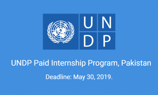 UNDP Paid Internship 2019 in Multiple Cities of Pakistan