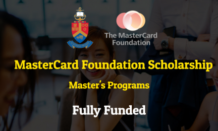 MasterCard Foundation Scholarship 2020 at The University of Pretoria [Fully Funded]