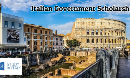 Italian Government Scholarship 2019-2020 – Fully Funded Study in Italy