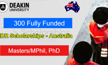 300 Higher Degree Research Scholarships for Masters/MPhil & PhD – Deakin University Scholarship