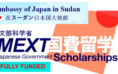 Japanese Government Scholarship 2020 for Sudanese Students (MEXT Scholarship)