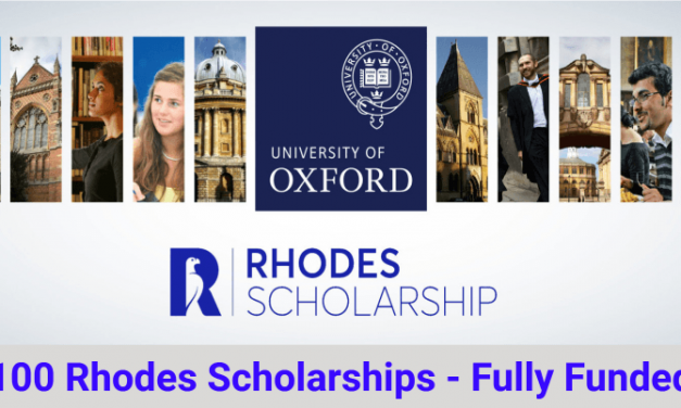 Rhodes Scholarship 2021 at University of Oxford in UK – Fully Funded