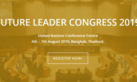 Future Leader Congress 2019 at UN, Bangkok, Thailand