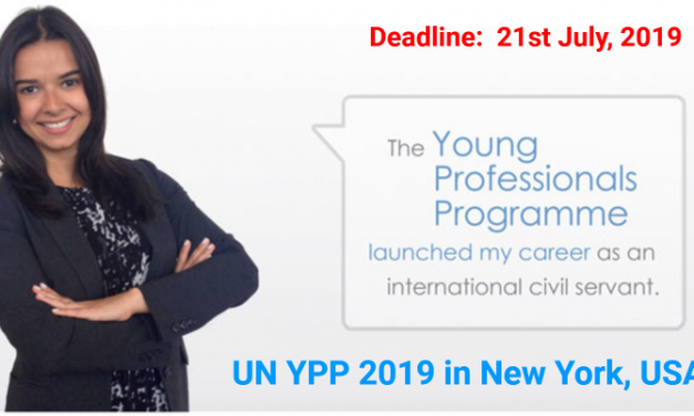 UN Young Professionals Programme 2019 in New York, United States