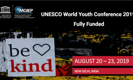 UNESCO World Youth Conference 2019 in India – Fully Funded