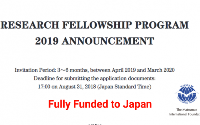 MIF Research Fellowship Program 2020 [Fully Funded] in Japan