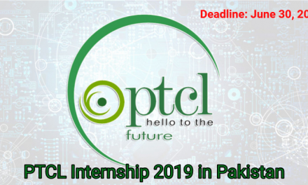 PTCL Internship 2019 in Pakistan for 5 Months – 15,000 Monthly Stipend