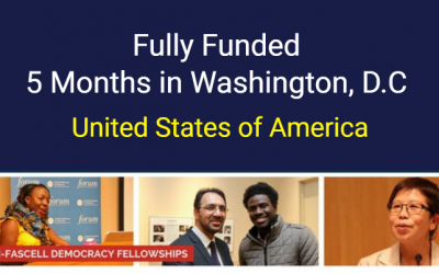NED Democracy Fellowship 2020-21 in Washington, D.C, USA [Fully Funded]