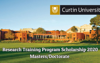 Research Training Program Scholarship 2020 by Australian Government
