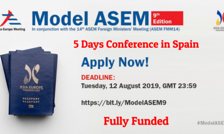 Asia Europe Meeting in Spain 2019 by Asia Europe Foundation – Fully Funded
