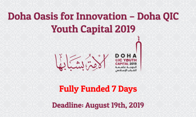 Doha Oasis For Innovation 2019 – Fully Funded to Qatar for one Week