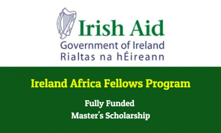 Ireland Africa Fellows Program for Masters in Ireland 2020-21 – Fully Funded