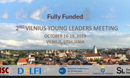 Vilnius Young Leaders Meeting 2019 in Lithuania [Fully Funded]