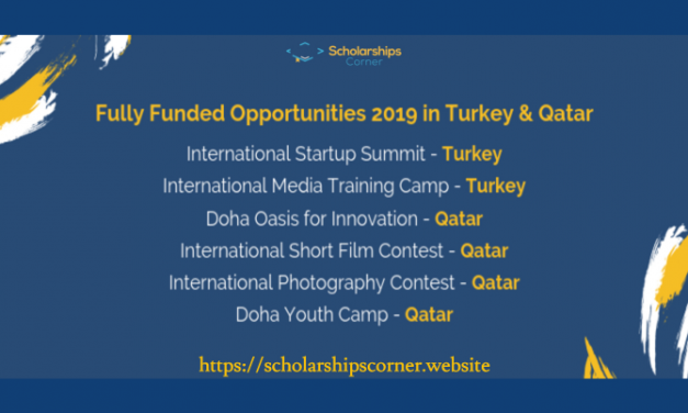 Fully Funded Youth Opportunities 2019 in Qatar & Turkey