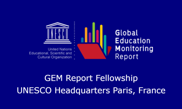 Global Monitoring Report Fellowship 2020 (Fully Funded to UNESCO Headquarters in Paris)