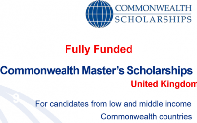 Commonwealth Scholarship for Masters 2020 in the UK [Fully Funded]