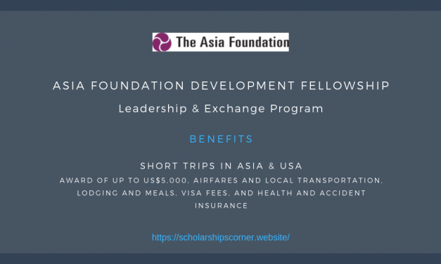 Asia Foundation Development Fellowship 2020 – Fully Funded