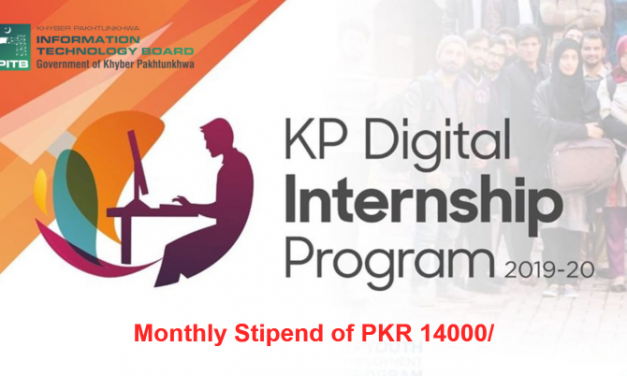 KP Internship Program 2019-20 |  Monthly Stipend of PKR 14000/-