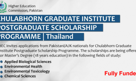 HEC Masters Scholarships in Thailand 2020 [Fully Funded]