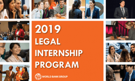The World Bank Legal Internship Program 2020