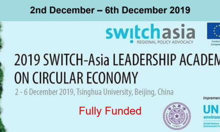 Switch Asia Leadership Academy 2019 in China [Fully Funded]