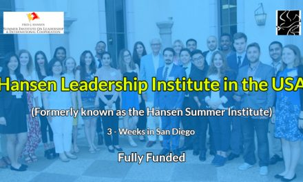 Hansen Leadership Institute 2020 in USA – Fully Funded Hansen Summer Institute