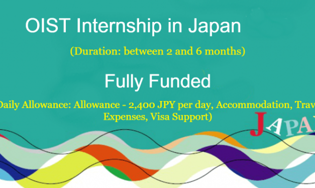 OIST Internship in Japan 2020 [Fully Funded Internship]
