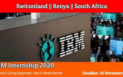 IBM Internships 2020 in Switzerland, Kenya & South Africa