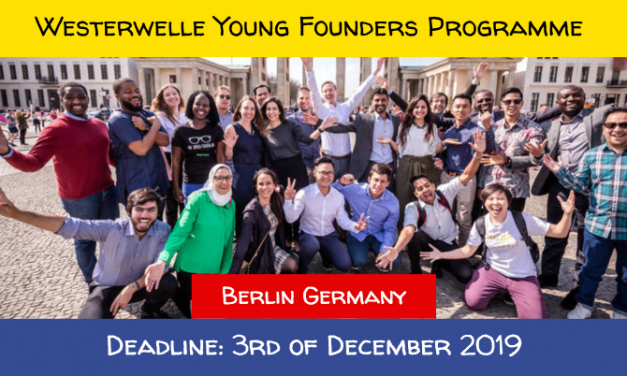 Young Founders Programme in Germany [Spring 2020] Fully Funded