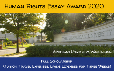 Human Rights Essay Award 2020 – Fully Funded to USA