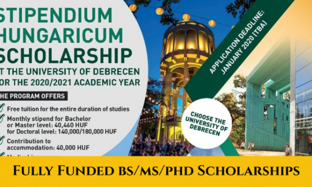 Stipendium Hungaricum Scholarship 2020 at University of Debrecen [Fully Funded]