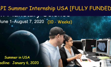 LPI Summer Internship 2020 for 10-Weeks [Fully Funded to USA]