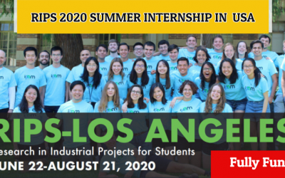 RIPS 2020 Summer Internship in USA – Fully Funded International Summer Internship