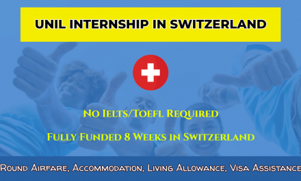 UNIL Internship in Switzerland 2020 – Fully Funded Summer Internship