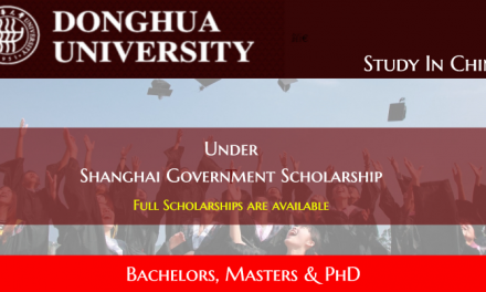 Shanghai Government Scholarship in China at Donghua University [Fully Funded]