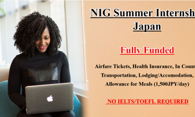 NIG Summer Internship in Japan 2020 – Fully Funded Japan Internship