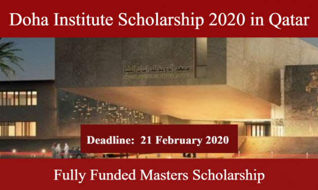 Doha Institute Scholarship 2020 in Qatar – Fully Funded Scholarship