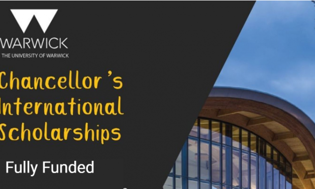 Chancellor's International Scholarship in UK 20/21 at the University of Warwick [Fully Funded]