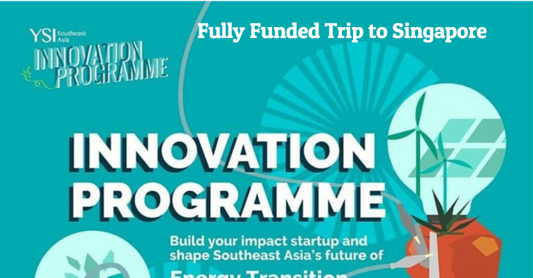 YSI Innovation Programme 2020 in Singapore [Fully Funded]