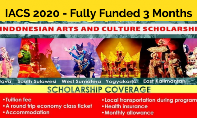 IACS Arts and Culture Scholarship Indonesia 2020 [Fully Funded]