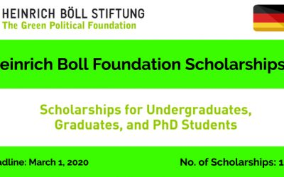 Heinrich Boll Foundation Scholarships 2020 in Germany-Study in Germany