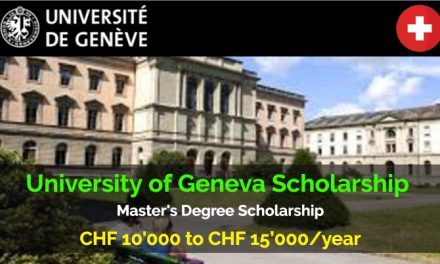 University of Geneva Scholarship for Master's Degree – Study in Switzerland
