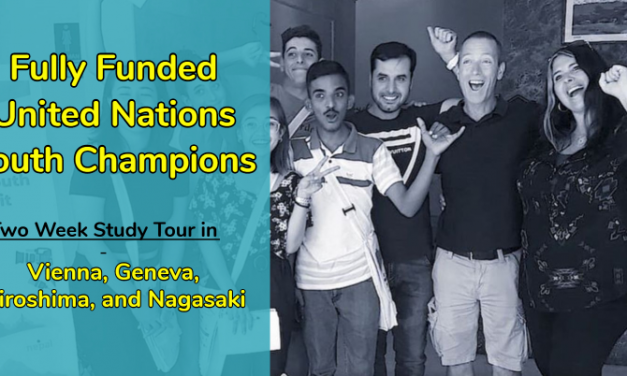United Nations Youth Champions 2020 – Fully Funded Study Tour